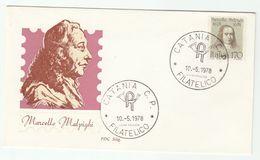 1978 Catania ITALY FDC  MALPIGHI Physician Biologist Stamps Cover Health Medicine - Medicine