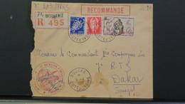 Cote D'Ivoire Lettre Recommandé Du 15e Bataillon D'Infanterie De Marine De Bouake 1959 Pour Dakar Senegal - Ivory Coast (1892-1944)