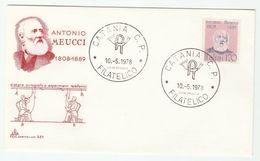 1978 Catania  ITALY FDC MEUCCI  TELECOM  Stamps Cover - Telecom