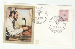 1978 Catania  ITALY Silk FDC MEUCCI  TELECOM  Stamps Cover - Telecom
