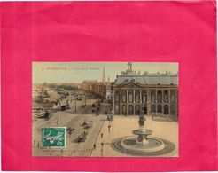 BORDEAUX - 33  - CPA COLORISEE - Place De La Bourse   - NANT4 - - Bordeaux