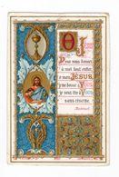 Citation De Bossuet, Jésus, Ciboire Et Enluminure, éd. E. Bouasse Jne N° 3360 - Andachtsbilder