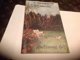 Horticole Pin Saint Genis Laval 1964 Cerisiers Fraize Arbres Fleurs  - Pubblicitari