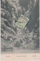 Gréce : DELPHES : La  Gorge De  Castalie  ( Timbre)destinée  Gendarmerie  Cherbourg ( Ane) - Greece