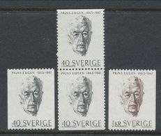 Sweden 1965 Facit # 566-567, Prince Eugen, MNH (**) - Unused Stamps