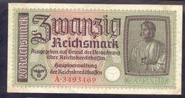 7 DIGIT SERIAL GERMANY 5 REICHSMARK 1940 1945 AUNC // UNC P-R138a