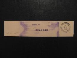 """(ALPES) COLLIER DE SAC 1988 CAD + GRIFFE FACTEUR """" DIGNE CR """" Pour ORAISON HAUTE PROVENCE - 1961-...."""