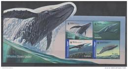 AUSTRALIA, 2006, MNH, WWF, WHALES, SHEETLET OF 4v - Other