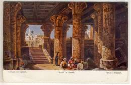CPA ILLUSTRATEUR F. PERLBERG - EGYPT  TEMPLE D'ESNEH - Perlberg, F.