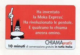 Telecom - Scheda Chiama Gratis - 2004 - BIALETTI - 10 Minuti Di Conversazione Gratuita - NUOVA -(FDC7784) - Italy
