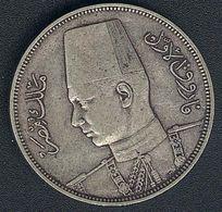 Ägypten, 10 Piastres 1937, Silber - Egypt
