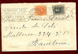 Edifil N.º 271, 314. Carta Circulada De Madrid A Barcelona El 2 De Noviembre De 1923 - 1889-1931 Kingdom: Alphonse XIII