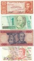 Lot Of 4 Different Banknotes Bolivia #162 (L1962) Brazil #198a (1991) #228(1990) #243Ae (1999), VF-UNC - Alla Rinfusa - Banconote