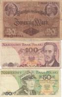 Lot Of  5 Different Europe Banknotes Germany #48(1914) Poland #142c #143e(1988) Slovenia #2(1990) Yugoslavia #88a(1978) - Lots & Kiloware - Banknotes