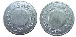 02076 TOKEN JETON GETTONE DENMARK SPILLAEMARCKE INDLOSES IKKE - Tokens & Medals