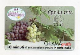 Telecom - Scheda Chiama Gratis - 2003 - UVA DA TAVOLA MAZZARRONE - 10 Minuti Di Conversazione Gratuita -NUOVA -(FDC7786) - Italy