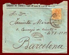 Edifil N.º 271. Carta Circulada De Castellón A Barcelona El 17 De Julio De 1919 - 1889-1931 Kingdom: Alphonse XIII