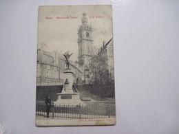 BELGIQUE Mons Monument Dolez Et Le Beffroi 1908 T.B.E. Tache - Mons