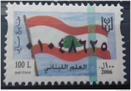 Lebanon 2006 Fiscal Revenue Stamp 100 L - MNH - Lebanese Flag - Lebanon