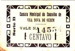 Portugal -Cédula De Vila Nova De Ourem 1ctv Série B Nº2444 - Portugal