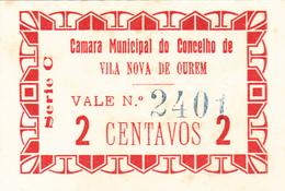 Portugal -Cédula De Vila Nova De Ourem 2 Ctv Série C  Nº2443 - Portugal
