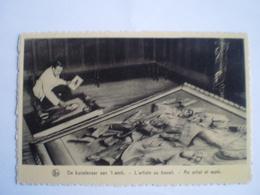Hekelgem (Affligem) Pierre Van Ransbeeck - Zandtapijt // Kunstenaar Aan Het Werk // 19?? - Bélgica