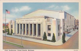 Michigan Grand Rapids Civic Auditorium Curteich - Grand Rapids