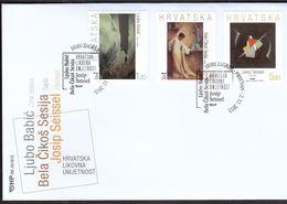 Croatia Zagreb 2013 / Arts / Croatian Art / Paintings / Babic, Sesija, Seissel / FDC - Kroatien