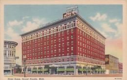 Michigan Grand Rapids Hotel Rowe 1951 Curteich - Grand Rapids