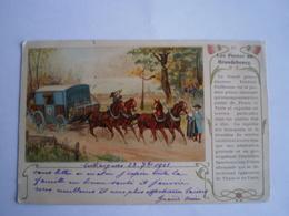 Llustration - LES POSTES DU BRANDEBOURG - Postkutze // Used 1901 - Duitsland