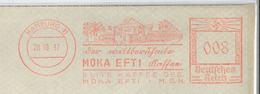 """Francotyp """"D"""" Hamburg 28.10.1937 Moka Efti Kaffee Elite Weltberühmt Mokka - Allemagne"""