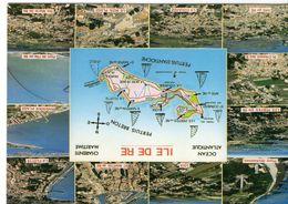 Ile De Ré Belle Multi-vues Carte Géographique De L'Ile - Ile De Ré