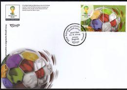 Croatia Zagreb  2014 / Football / FIFA World Cup Brasil / FDC - Coupe Du Monde