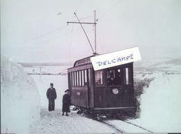 Le Tram Rolle-Gimel Sur Les Hauts De Gimel Durand L'hiver 1899 - Reproduction - VD Vaud