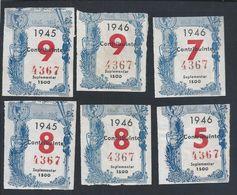 Benfica.Eusebio.Soccer.8 Receipts For 1945/6 Of Members.Fußball. 8 Quittungen Für 1945/6.Football.Jalkapalloa.Fodbold - Sports