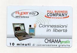 Telecom - Scheda Chiama Gratis - 2003 - CONNESSIONI IN LIBERTA' - 10 Minuti Di Conversazione Gratuita -NUOVA - (FDC7788) - Italy