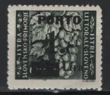 Istria 1946 Segnatasse Sass.S.14/III **/MNH VF/F - Occup. Iugoslava: Litorale Sloveno