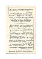 810. LUCIA BEGGA GORIS - HERENTALS 1864 / 1888 - Images Religieuses