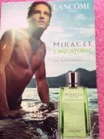 LANCOME  MIRACLE  L'AQUATONIC - Perfume Cards
