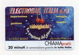 Telecom - Scheda Chiama Gratis - 2004 - ELECTROBAR ITALIA SRL - 20 Minuti Di Conversazione Gratuita - NUOVA - (FDC7789) - Italy