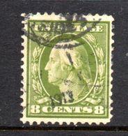 T220 - STATI UNITI 1908 , 8 Cent  Unificato N. 201  Usato Dent 12. - Oblitérés