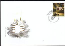 Croatia Zagreb 2014 / Christmas / Candle / FDC - Christmas
