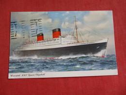 Paquebot Cancel-- Cunard R.M.L. Queen Elizabeth    Ref 2819 - Paquebots