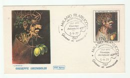 1977 Milan ITALY FDC  ACRIMBOLDI ART, FRUIT  Stamps Cover - Art