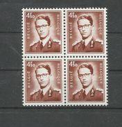 OCB 1651a ** Postfris Zonder Scharnier = Blok Van 4 - Belgique