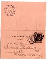 Carte Lettre De Paris Bourse Sage (19.05.1890) Pour Luxembourg - Postal Stamped Stationery