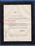 Document De 1896 - Transport Du Corps à RIBAUT ( Gard ) - Jean Joseph Humbert Comte De CHAPONAY Officier De Cavalerie - Documentos Históricos