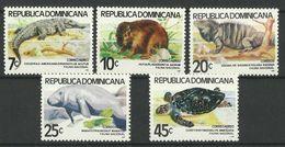 DOMINICAN  REPUBLIC   1980   ANIMALS - TURTLE,CROCODILE,IGUANA... -  SET  MNH - Non Classés
