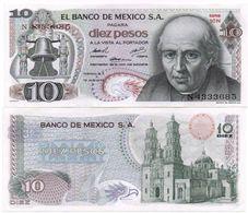 Mexico - 10 Pesos 1974 Pick 63g Serie 1CL UNC Lemberg-Zp - Messico