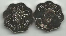 Swaziland 10 Cents 2009. UNC KM#49 - Swaziland